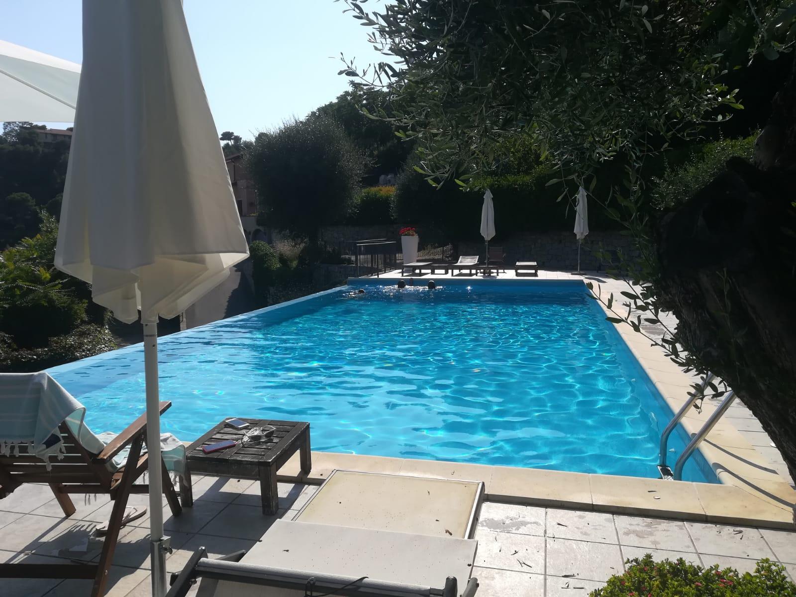 Villa con piscina e vista mare a Mortola, Ventimiglia